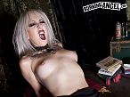 The thickness of an erect cock leads this gothic babe into the land of pleasure and pain