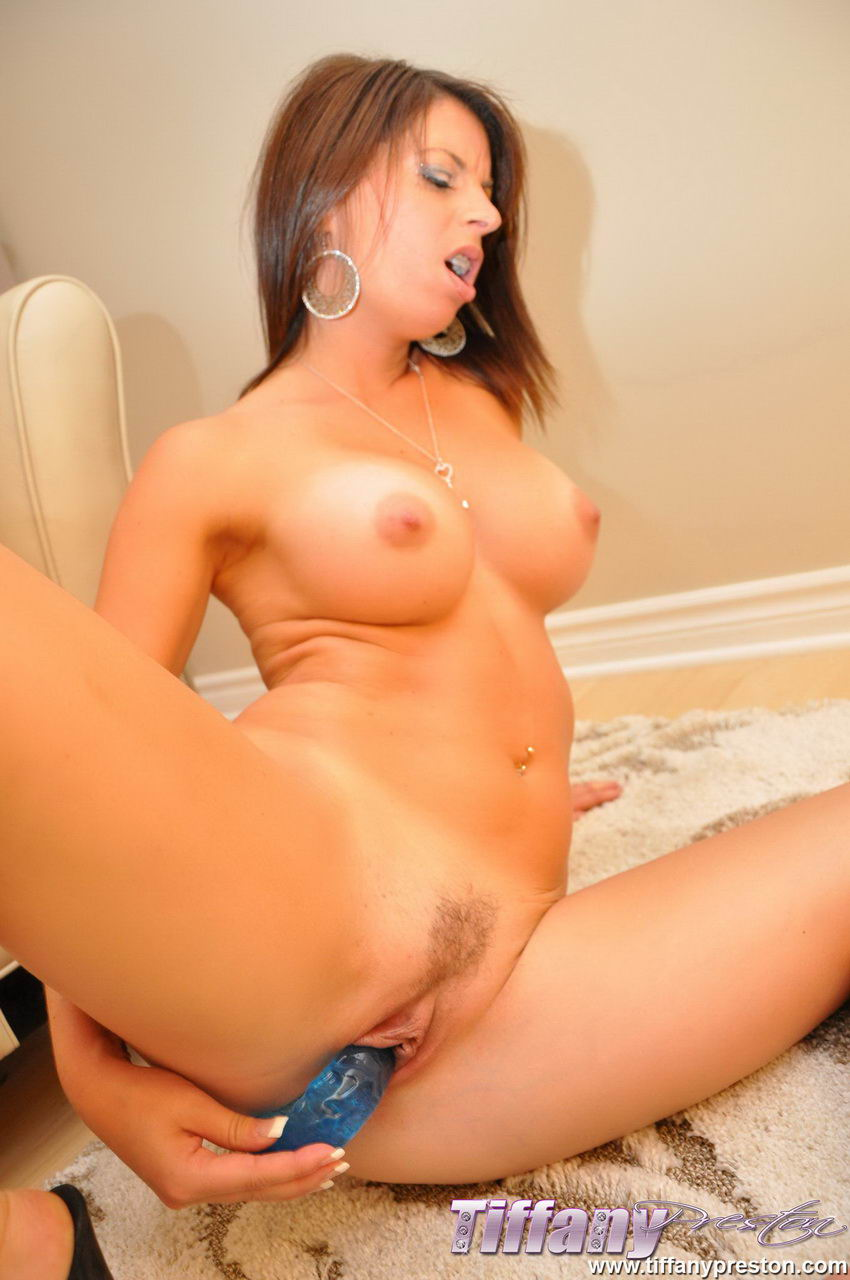 Tiffany Preston DP with blue dildo