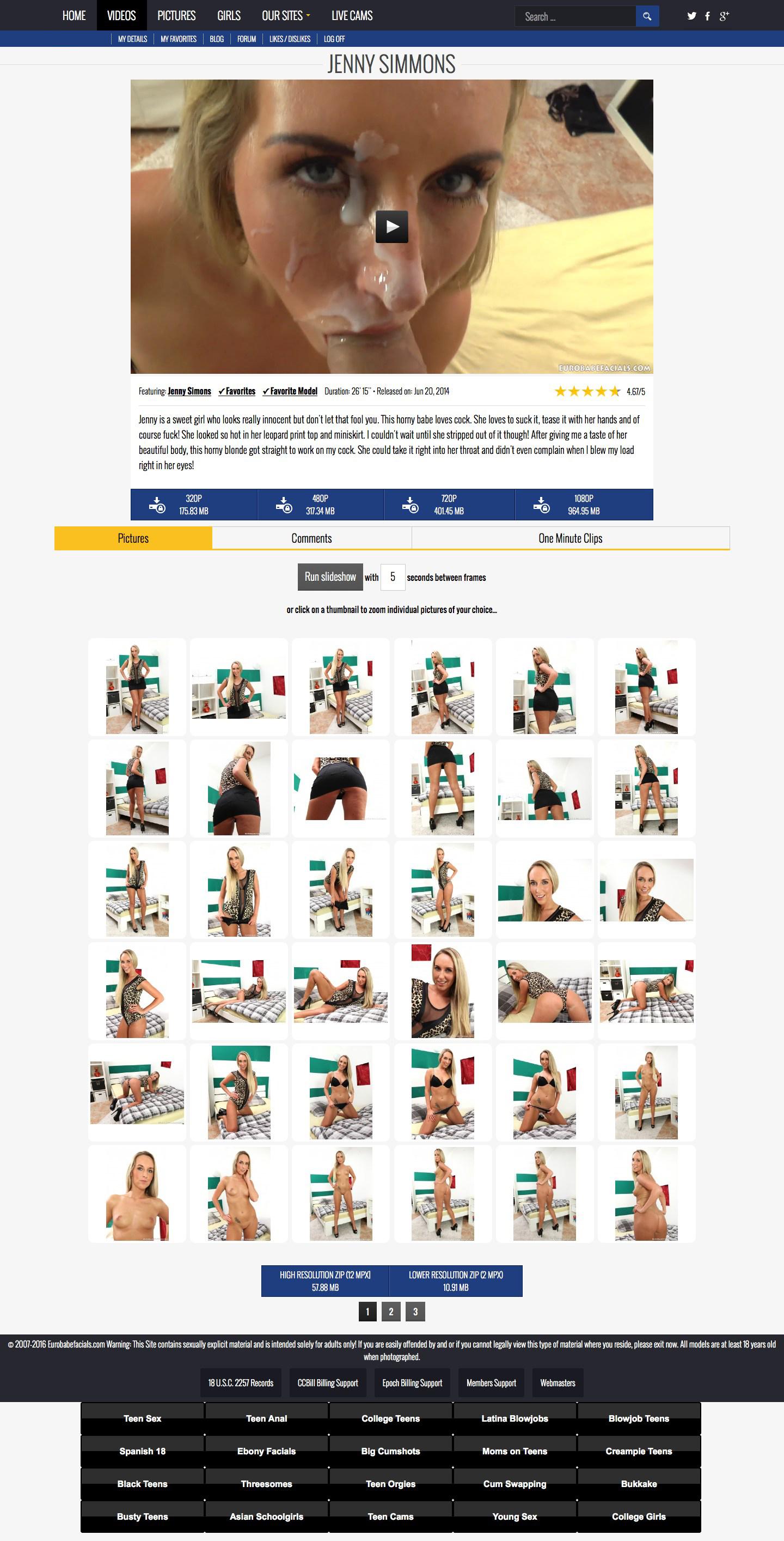 Eurobabe Facials videos