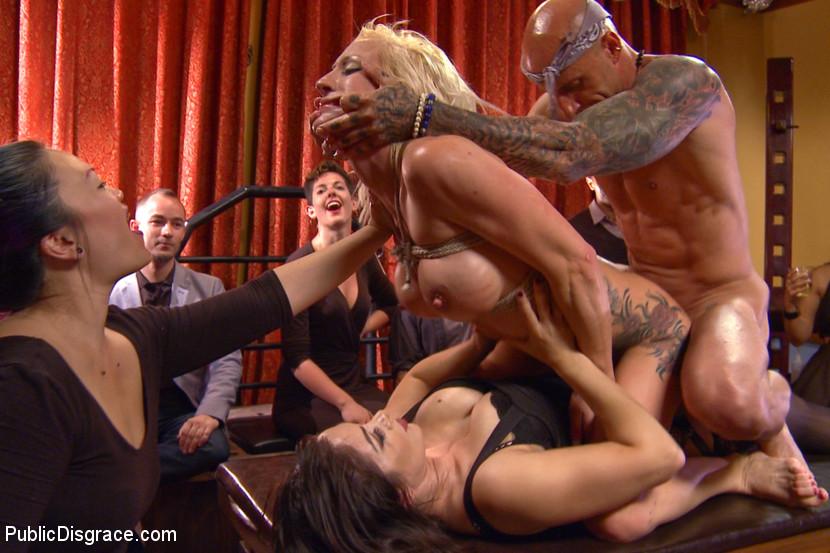 Public bondage porn