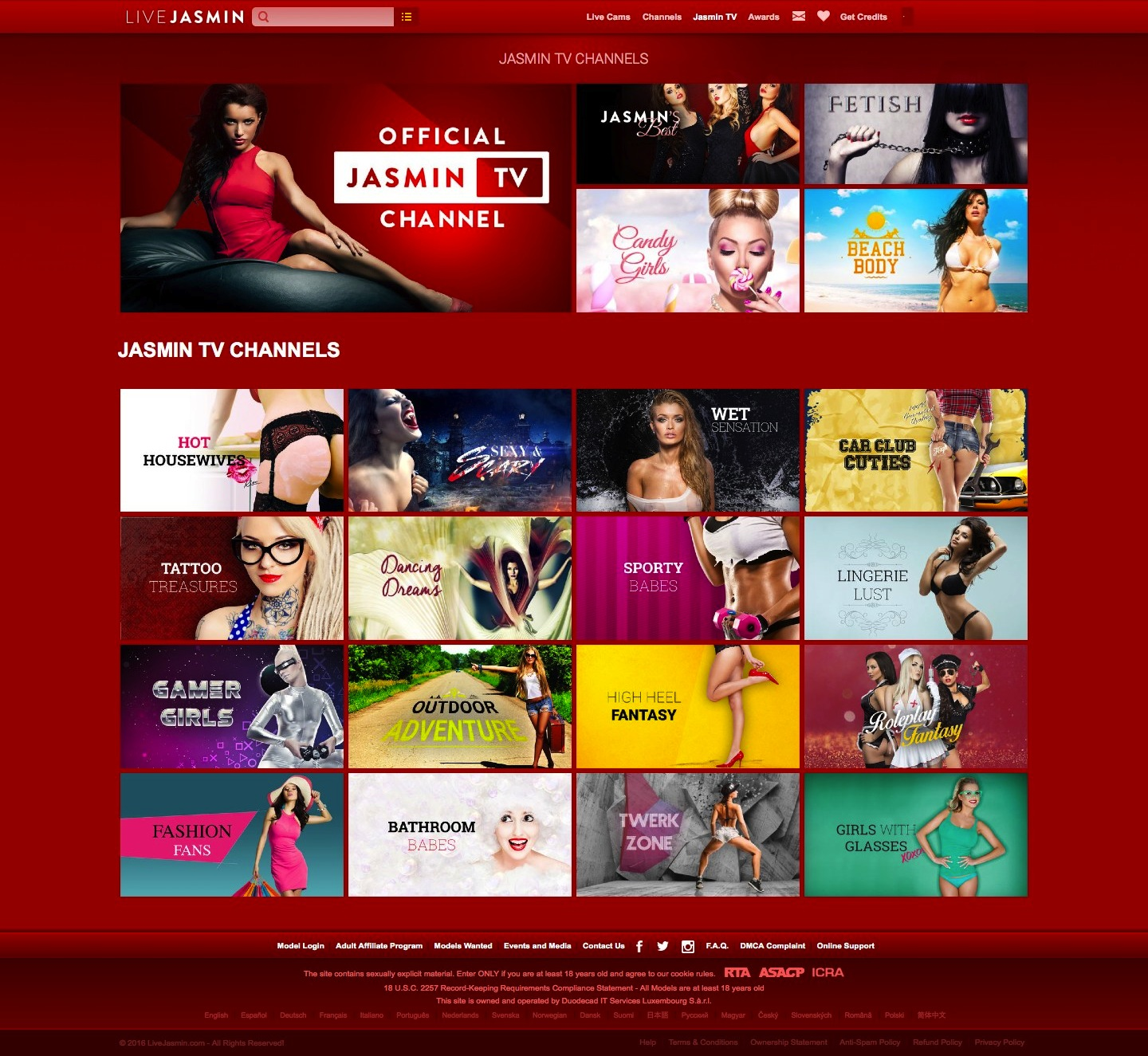 Live Jasmin channels