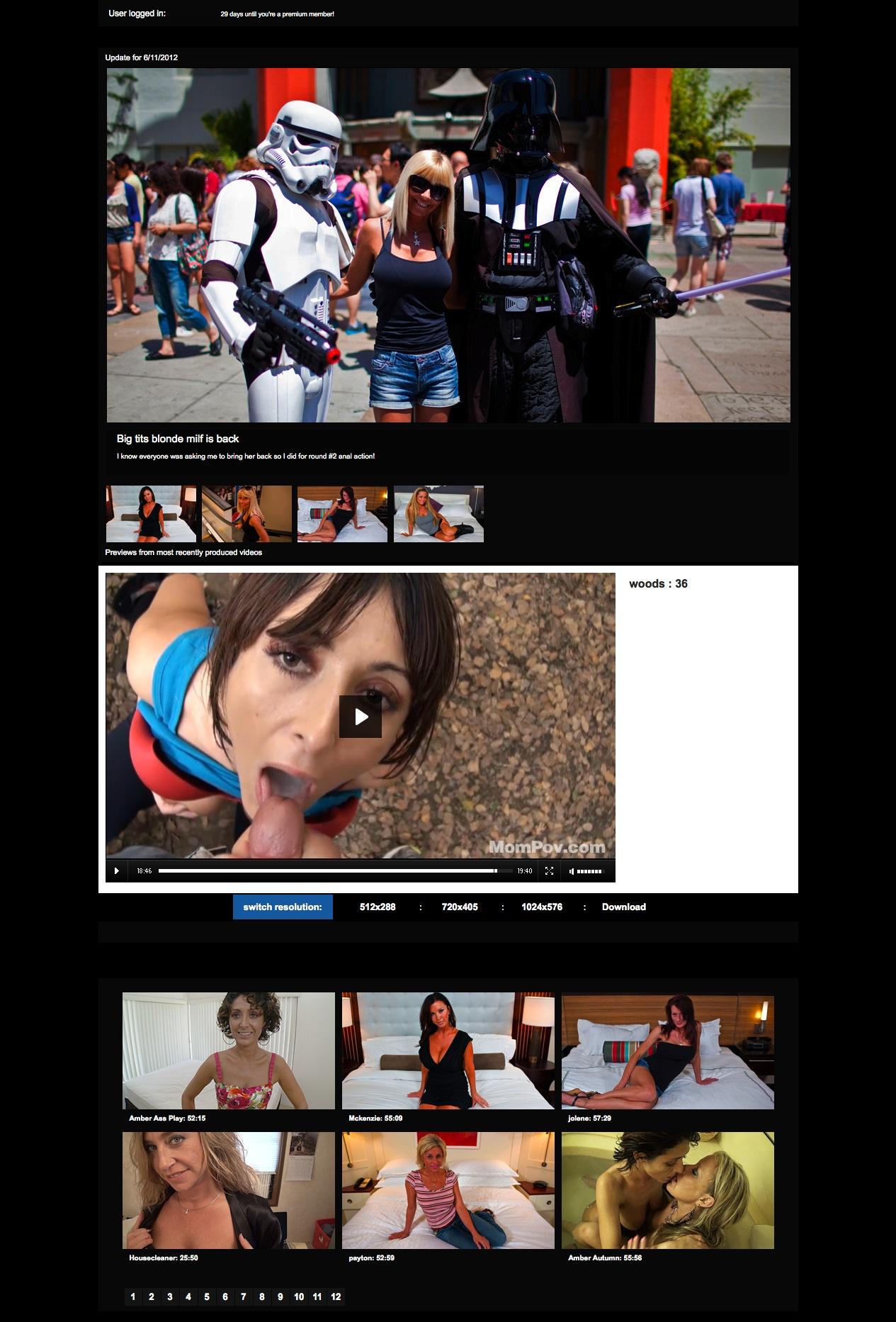 Mom POV video sample page 2