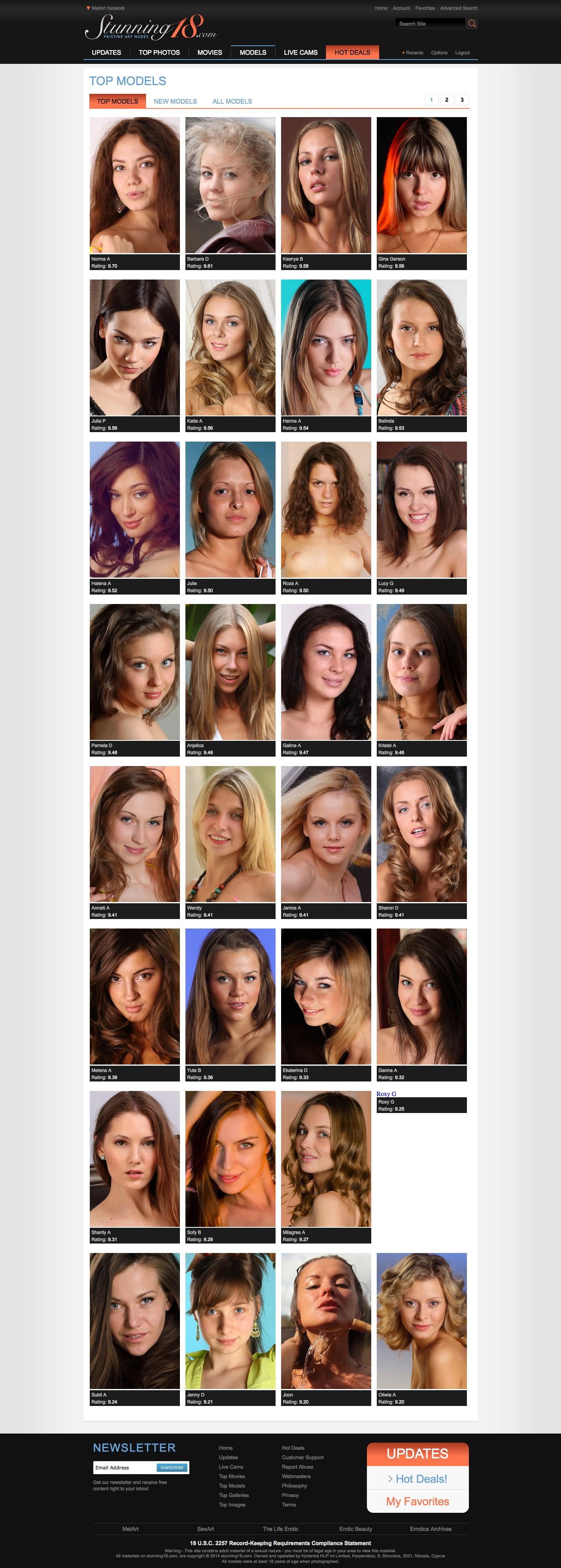 Stunning 18 models