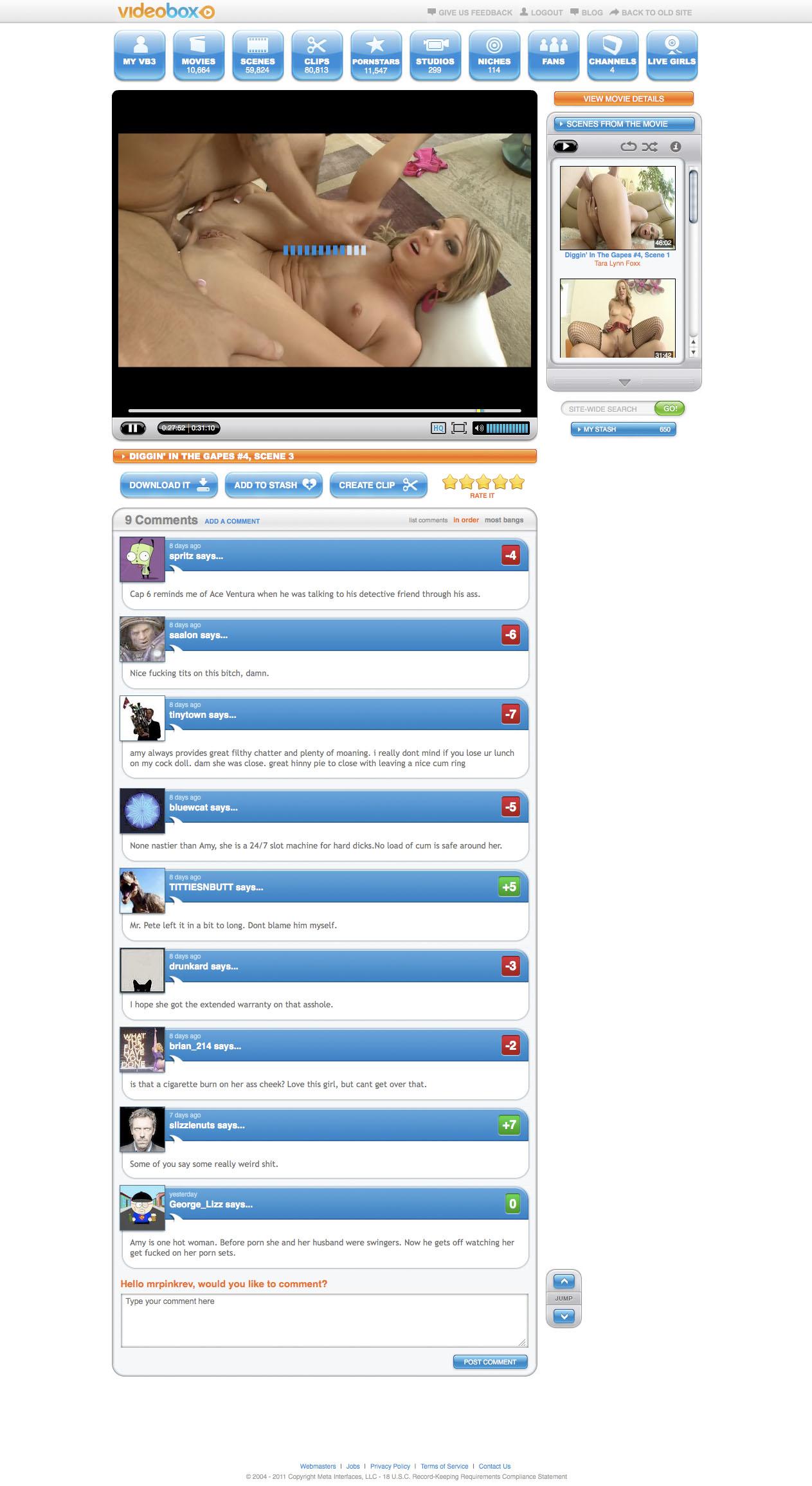 Videobox video page
